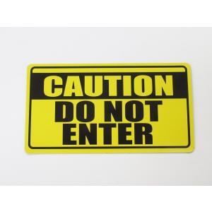 立入禁止 マグネットシート ステッカー DO NOT ENTER 英語表記 黄色 通常サイズ 防犯グッズ 注意喚起 セキュリティ対策 Don't enter|originalartpro