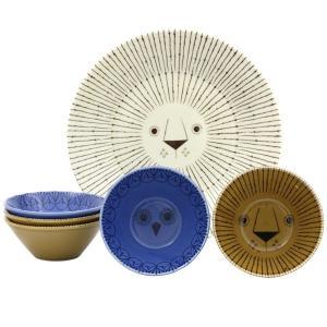 ミッケ パーティーボウルセット 動物柄の食器セット お皿 プレート ボウル 日本製 和食器|oriji