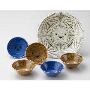 ミッケ パーティーボウルセット 動物柄の食器セット お皿 プレート ボウル 日本製 和食器|oriji|03