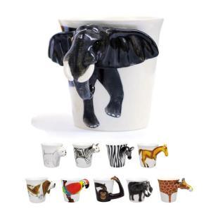 アニマルマグ アニマルマグカップ かわいい動物の3D 立体 アニマル マグカップ