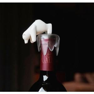 ボトルキャップ しろくま ボトルストッパー ワイン 栓 おしゃれ かわいい クオリー ボトムス アップ ベアー|oriji