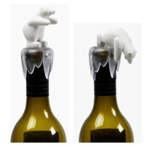 ボトルキャップ しろくま ボトルストッパー ワイン 栓 おしゃれ かわいい クオリー ボトムス アップ ベアー|oriji|04