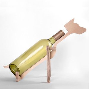 アニマルボーン ワインラック ドーベルマン おしゃれな動物の木製ワインラック oriji 02