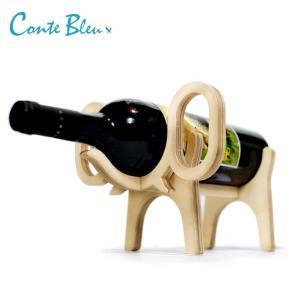 アニマルボーン ワインラック エレファント おしゃれな動物の木製ワインラック|oriji