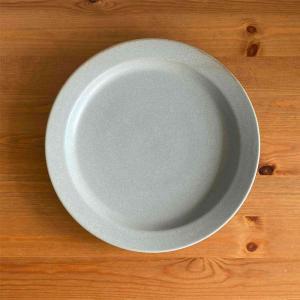 プレート Mサイズ 22cm おしゃれ お皿 中皿 グレー グレイ メンズライク 食器 陶器 美濃焼...