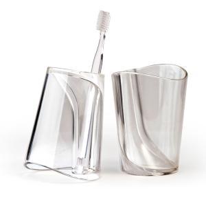 クオリー フリップカップ おしゃれ 歯ブラシスタンド 歯ブラシ立てコップ|oriji