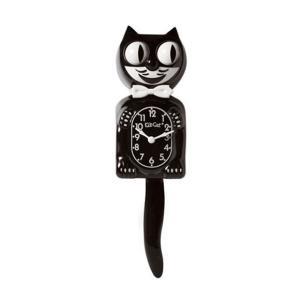 かわいいネコの振り子時計 キットキャットクロック クラシックブラック 掛け時計