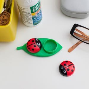レディーバグ コンタクトケース おしゃれ かわいい てんとう虫デザイン|oriji