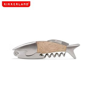 おしゃれな魚型のワインオープナー  キッカーランド ライトウッド フィッシュ コルクスクリュー|oriji