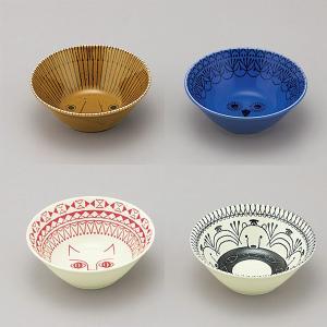 ミッケ 動物柄 ボウル Mサイズ 鉢 中鉢 日本製 和食器 磁器|oriji