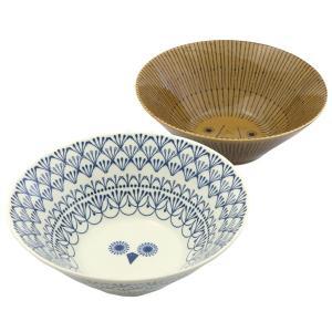 ミッケ ペアボウル ライオンとフクロウの丼 ラーメン鉢 日本製 和食器|oriji