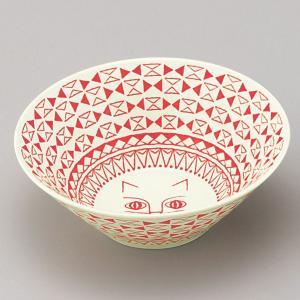ミッケ ネコ柄 丼鉢 ボウル Lサイズ ラーメン鉢 日本製 和食器 磁器|oriji