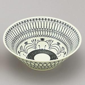 ミッケ しろくま柄 丼鉢 ボウル Lサイズ ラーメン鉢 日本製 和食器 磁器|oriji