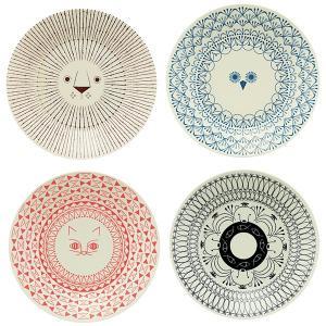 ミッケ 動物柄 プレート Lサイズ 皿 大皿 日本製 和食器 磁器|oriji