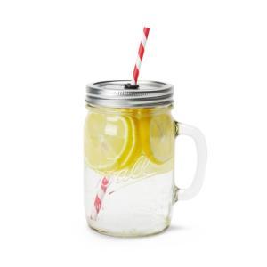 メイソンジャー ビンのグラス レッドネック ハンドルグラスマグ 24オンス ストロー付き|oriji