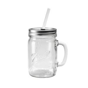 メイソンジャー ビンのグラス レッドネック ハンドルグラスマグ 24オンス ストロー付き|oriji|02