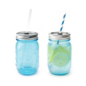 レッドネック シッパー 2個セット ブルー おしゃれなビンのグラス コップ 在庫あり|oriji