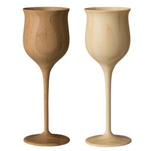 RIVERET 竹製 ワイングラス ペアセット ワインベッセル 木製 ギフトBOX入り 日本製|oriji