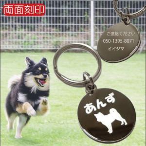 迷子札 犬 名入れ かわいい ネームプレート サークル 名前入り 送料無料