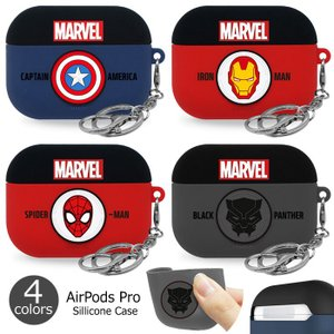 MARVEL AirPods Pro Silicone Case エアーポッズプロ 収納 ケース カ...