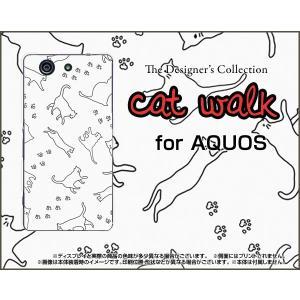 スマホケース AQUOS Xx2 mini 503SH ハードケース/TPUソフトケース キャットウォーク(モノトーン) ねこ 猫柄 キャット モノトーン|orisma