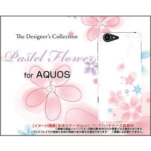 スマホケース AQUOS Xx3 506SH アクオス ハードケース/TPUソフトケース Pastel Flower type004 パステル 花 フラワー ピンク ホワイト|orisma