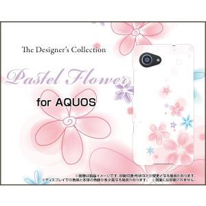 スマホケース AQUOS Xx3 mini 603SH ハードケース/TPUソフトケース Pastel Flower type004 パステル 花 フラワー ピンク ホワイト|orisma