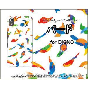 スマホケース DIGNO J 704KC ハードケース/TPUソフトケース バード(カラフル) 鳥 とり カラフル 動物 orisma