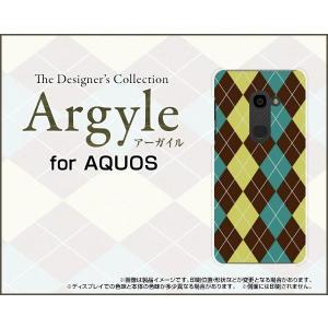 スマホケース AQUOS zero 801SH ハードケース/TPUソフトケース Argyle(アーガイル) type001 あーがいる 格子 菱形 チェック orisma
