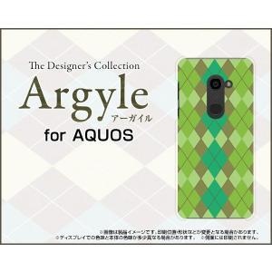 スマホケース AQUOS zero 801SH ハードケース/TPUソフトケース Argyle(アーガイル) type003 あーがいる 格子 菱形 チェック orisma