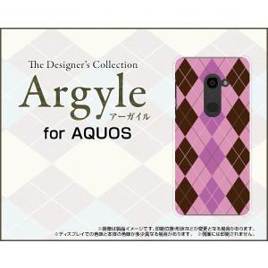 スマホケース AQUOS zero 801SH ハードケース/TPUソフトケース Argyle(アーガイル) type006 あーがいる 格子 菱形 チェック orisma