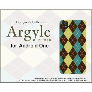スマホケース Android One S3 ハードケース/TPUソフトケース Argyle(アーガイル) type001 あーがいる 格子 菱形 チェック orisma