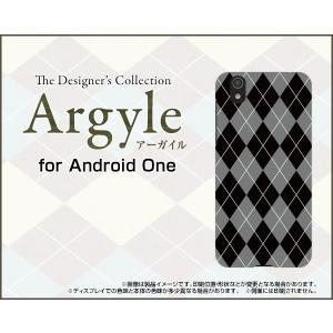 スマホケース Android One S3 ハードケース/TPUソフトケース Argyle(アーガイル) type002 あーがいる 格子 菱形 チェック orisma