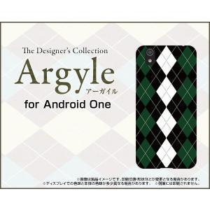 スマホケース Android One S3 ハードケース/TPUソフトケース Argyle(アーガイル) type004 あーがいる 格子 菱形 チェック orisma