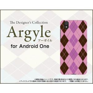 スマホケース Android One S3 ハードケース/TPUソフトケース Argyle(アーガイル) type006 あーがいる 格子 菱形 チェック orisma