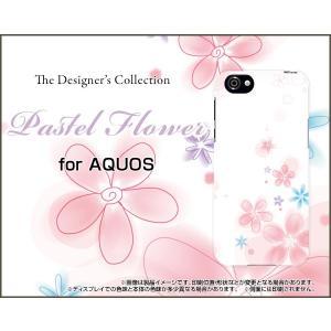 スマホケース AQUOS R SH-03J SHV39 604SH ハードケース/TPUソフトケース Pastel Flower type004 パステル 花 フラワー ピンク ホワイト|orisma