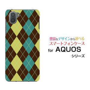 スマホケース AQUOS R3 SH-04L SHV44 docomo au SoftBank ハードケース/TPUソフトケース Argyle(アーガイル) type001 あーがいる 格子 菱形 チェック|orisma