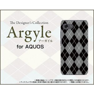 スマホケース AQUOS R compact SHV41 701SH ハードケース/TPUソフトケース Argyle(アーガイル) type002 あーがいる 格子 菱形 チェック orisma