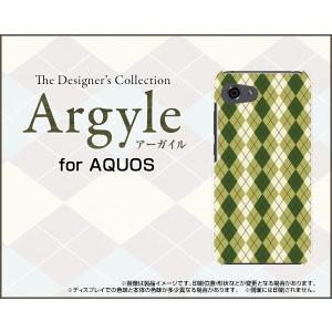 スマホケース AQUOS R compact SHV41 701SH ハードケース/TPUソフトケース Argyle(アーガイル) type005 あーがいる 格子 菱形 チェック|orisma