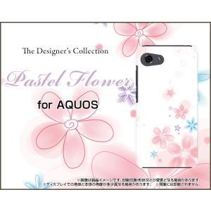 スマホケース AQUOS R compact SHV41 701SH ハードケース/TPUソフトケース Pastel Flower type004 パステル 花 フラワー ピンク ホワイト orisma