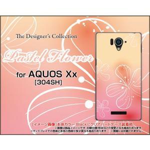 AQUOS Xx アクオス xx シリーズ 304SH ハード ケース Pastel Flower type007 パステル ピンク オレンジ 花 フラワー|orisma