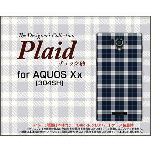 AQUOS Xx アクオス xx シリーズ 304SH TPU ソフト ケース Plaid(チェック柄) type003 ちぇっく 格子 紺 シンプル かっこいい|orisma