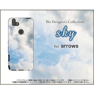 arrows RX ハードケース/TPUソフトケース 液晶保護フィルム付 sky type2