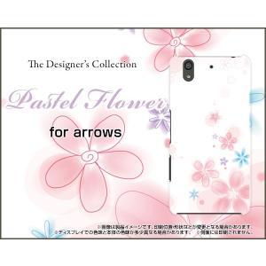 スマホケース arrows Be F-04K ハードケース/TPUソフトケース Pastel Flower type004 パステル 花 フラワー ピンク ホワイト|orisma