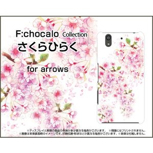 スマホケース arrows Be F-04K ハードケース/TPUソフトケース さくらひらく F:chocalo デザイン 桜 春 花 卒業 和風|orisma