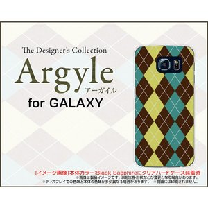 スマホケース GALAXY S6 edge SC-04G SCV31 404SC ハードケース/TPUソフトケース Argyle(アーガイル) type001 あーがいる 格子 菱形 チェック|orisma