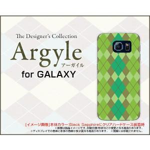 スマホケース GALAXY S6 edge SC-04G SCV31 404SC ハードケース/TPUソフトケース Argyle(アーガイル) type003 あーがいる 格子 菱形 チェック|orisma