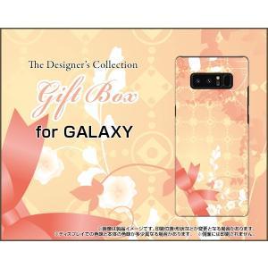 スマホケース GALAXY Note 8 SC-01K SCV37 ハードケース/TPUソフトケース Gift Box ドット リボン パステル 花|orisma