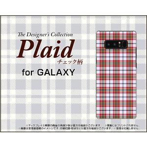 GALAXY Note 8 SC-01K SCV37 ハードケース/TPUソフトケース 液晶保護フィルム付 Plaid(チェック柄) type002 ちぇっく 格子 赤 白 可愛い(かわいい)|orisma