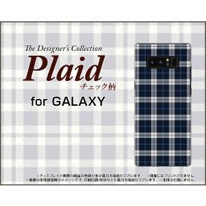 GALAXY Note 8 SC-01K SCV37 ハードケース/TPUソフトケース 液晶保護フィルム付 Plaid(チェック柄) type003 ちぇっく 格子 紺 シンプル かっこいい|orisma